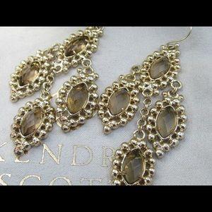 Kendra Scott Smokey Quartz Earrings Gold
